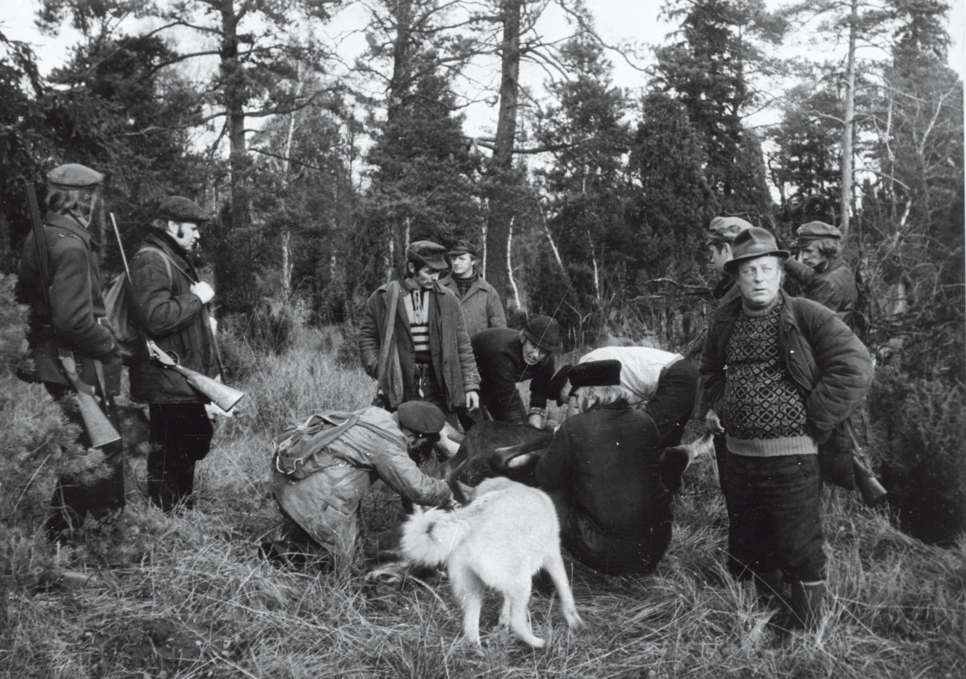 Tehase Ilmarine jahimehed pärast jahti, 1978. EFA.332.0-110300