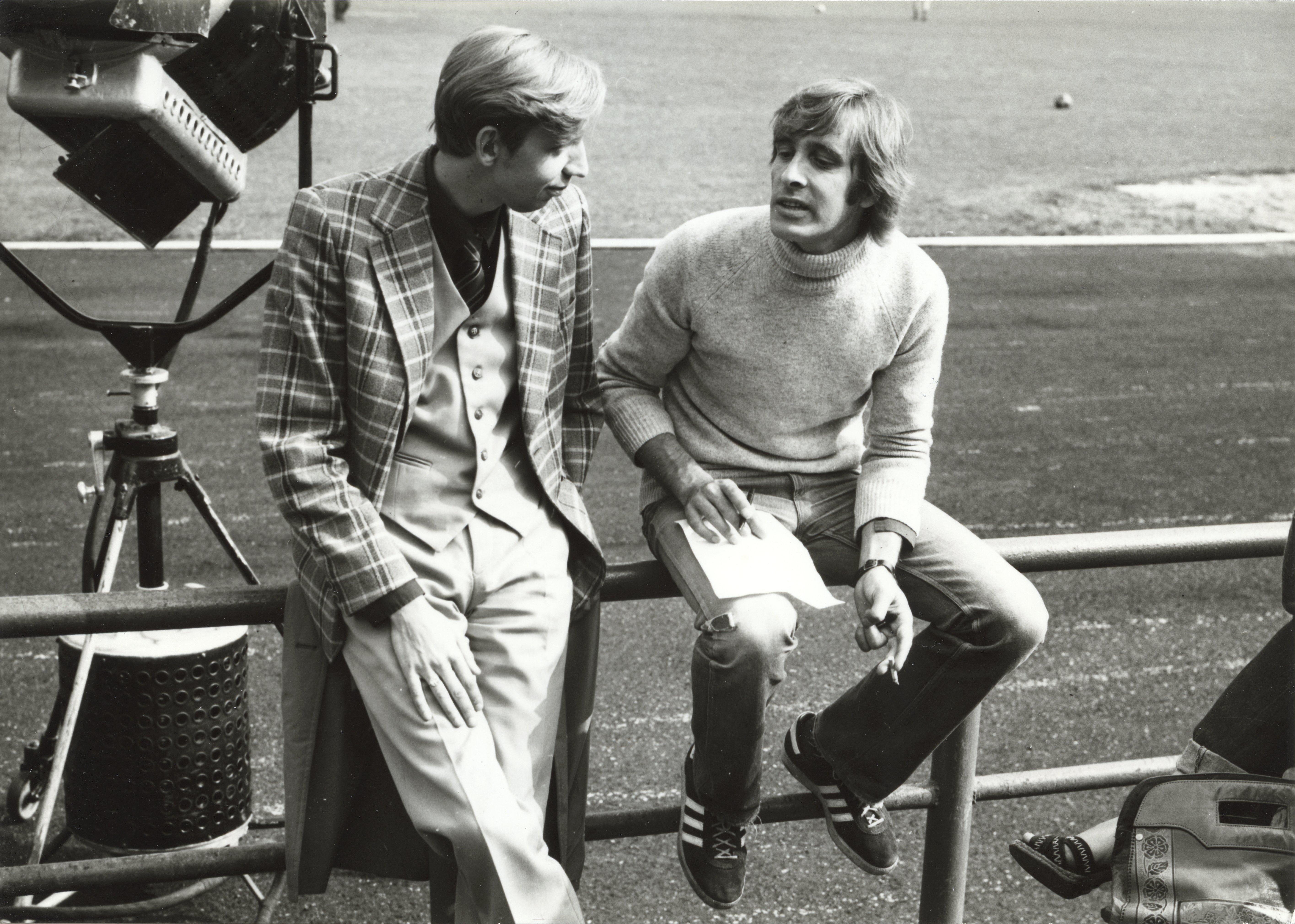 EFA 0-146799. Urmas Kibuspuu ja Lembit Ulfsak filmivõtetel. Foto: autor teadmata, 1978-'80