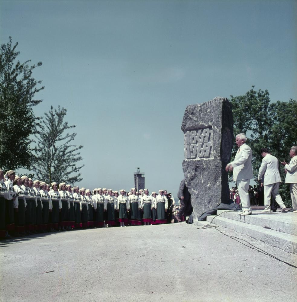 Laulupidude mälestuskivi avamine 27.06.1969