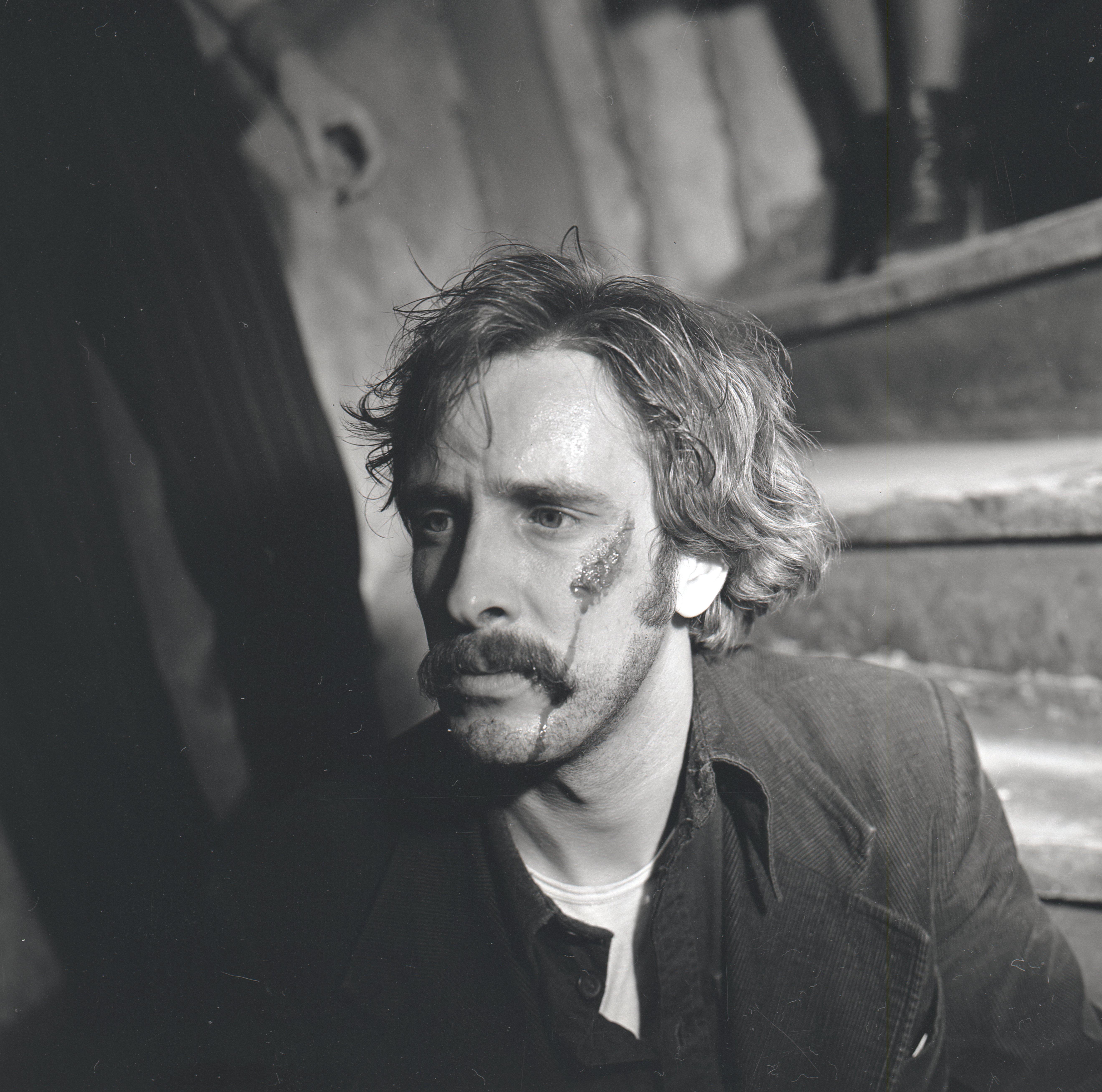 """EFA 0-210142. Ulfsak Jenseni rollis filmis """"31. osakonna hukk"""". Foto: Oti Vasemaa, 1979"""