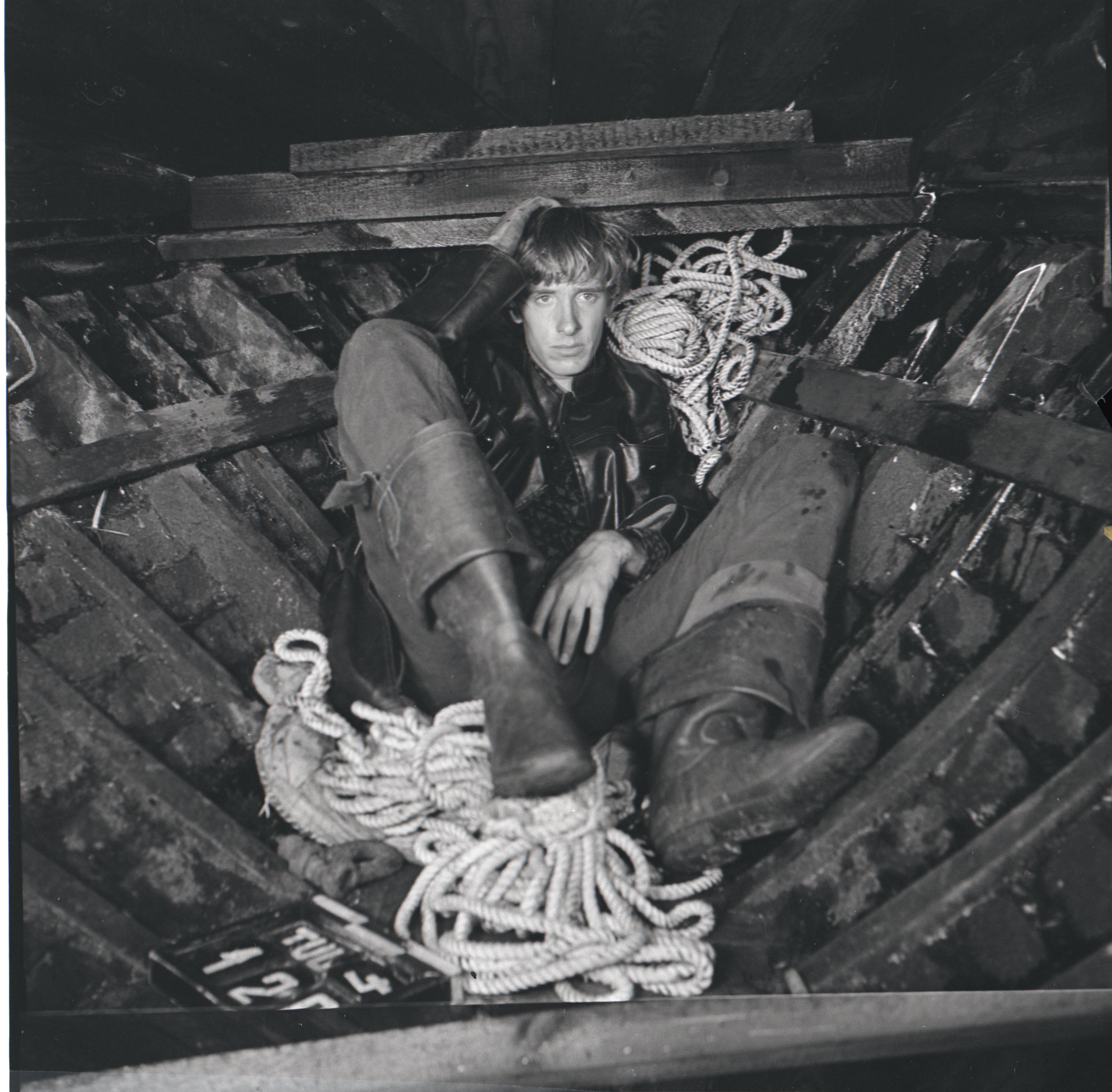 """EFA 0-213801 Mängufilm """"Tuulevaikus"""" – Tuisu-Taavi – Lembit Ulfsak. Foto: Oti Vasemaa, 1970"""