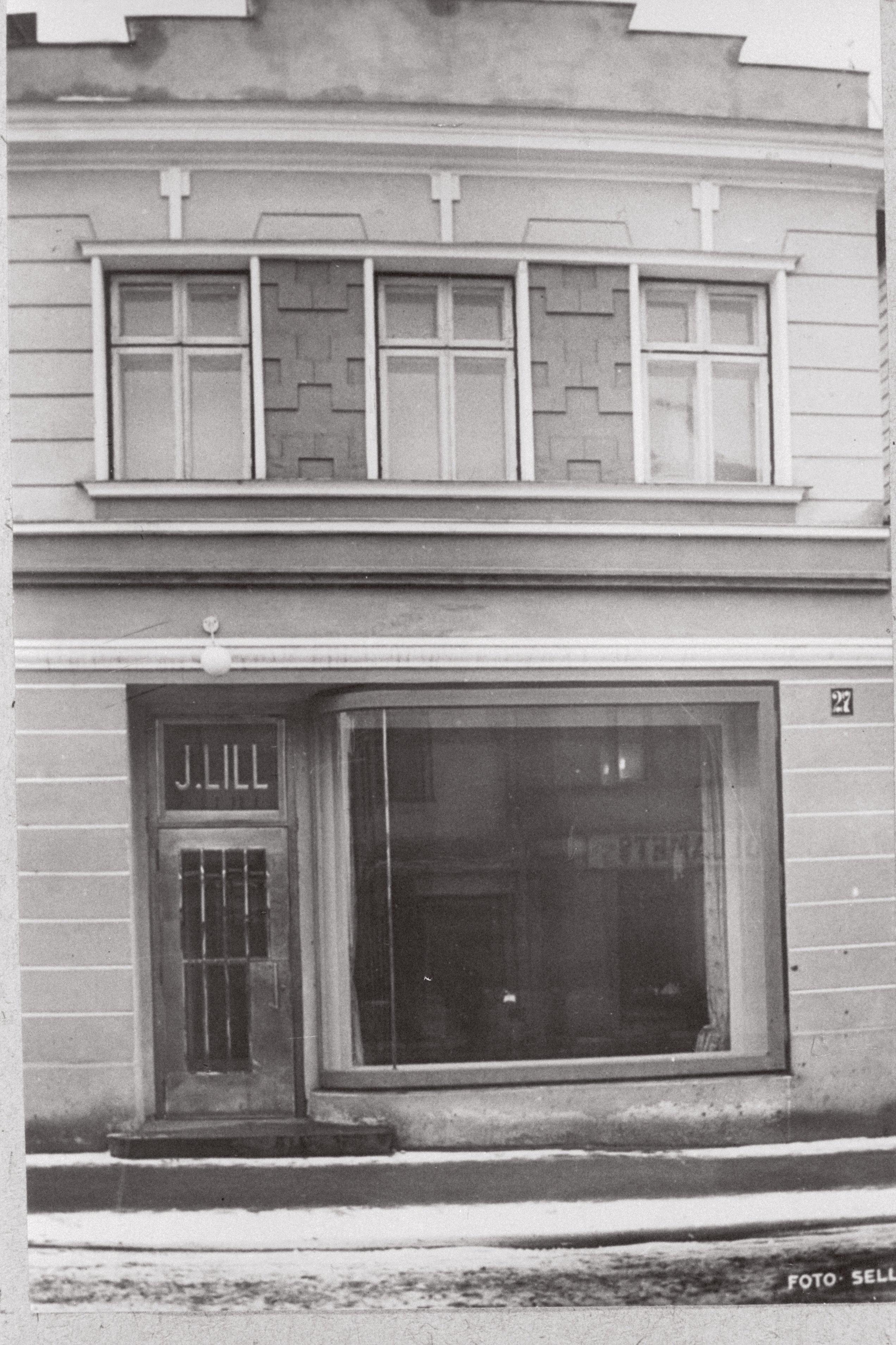 J. Lille kohvik Võidu tänav 27, Tartu. 1938 EFA.197.0-29583 Autor: Eduard Selleke
