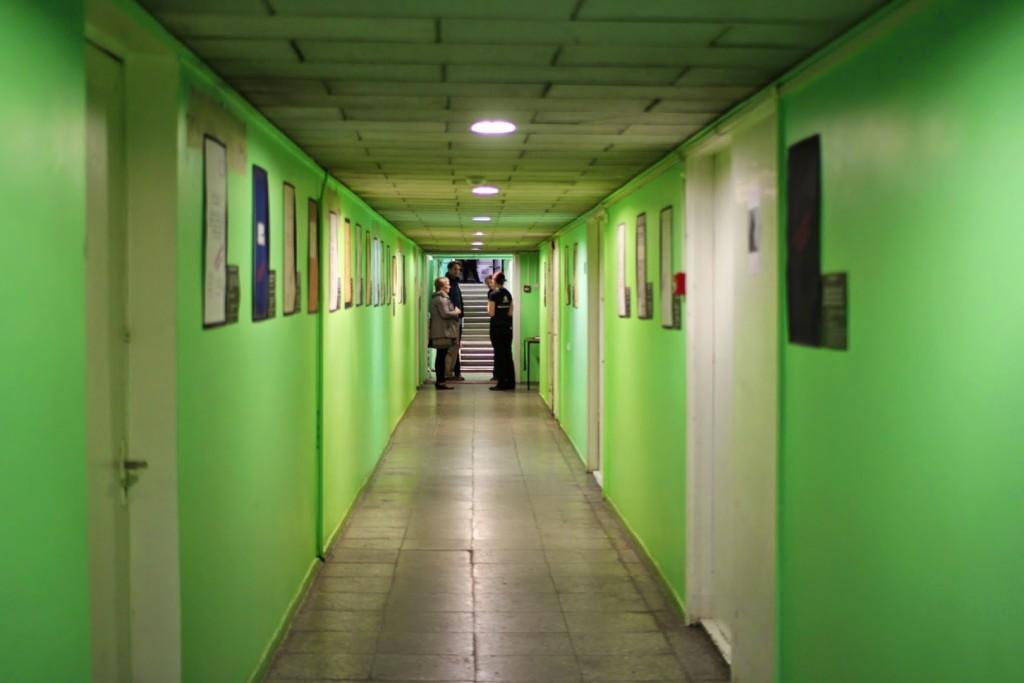 Hoidlahoone koridor 2013. a. arhiiviööl, foto: Gerli Raadik. 2013_05_18_3281