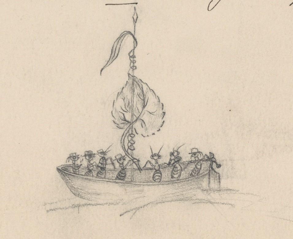 Aadlipere Koskullile kuulunud Saadjärve mõisa pärandist leitud joonistus. Sipelgate meresõit. EAA.1392.1.290.37. 26100797904_5a8a3bb7f7_o
