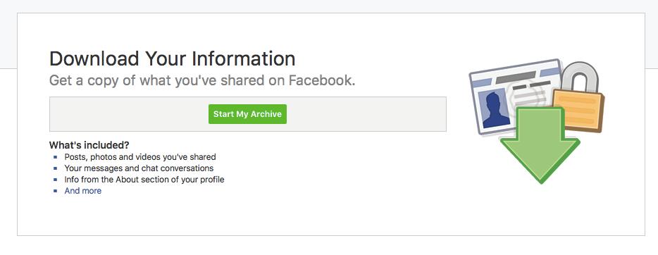Facebooki konto arhiveerimise juhend 3.