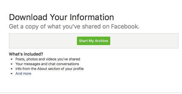 Kuidas arhiveerida Facebook'i, Instagram'i ja Twitter'i konto?