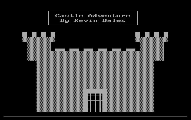 Kuvatõmmis arvutimängust Castle Adventure