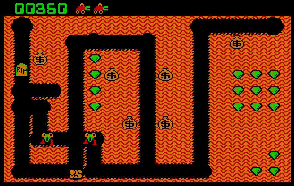 Kuvatõmmis arvutimängust Digger