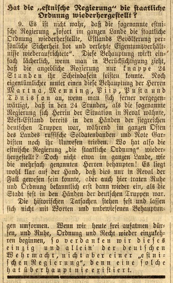 Dorpater Zeitung, 17. mai 1918