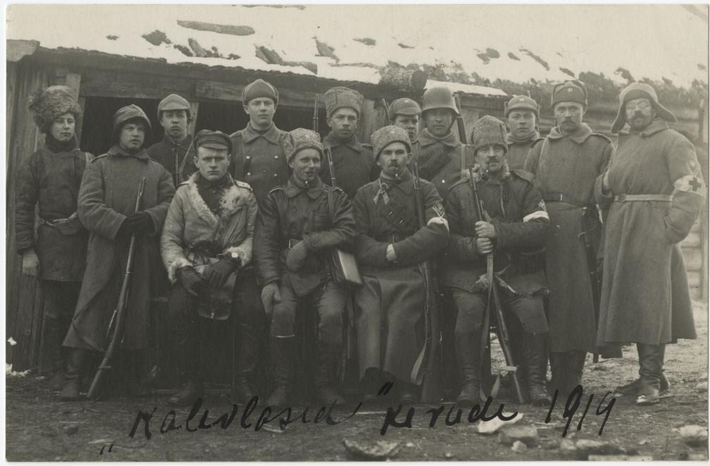 Kalevi Maleva võitlejad kevadel 1919.aastal. RA, EAA.2881.1.27,4.19
