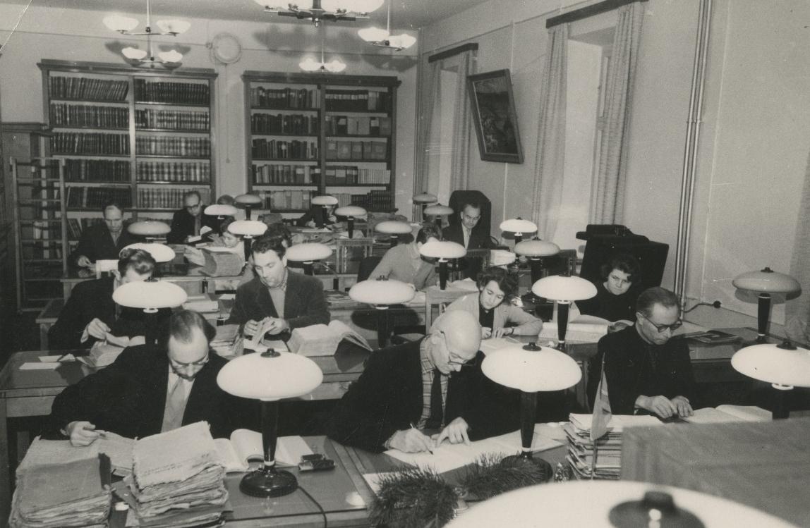 ENSV Riikliku Ajaloo Keskarhiivi lugemissaal. 1960. EAA.5237.1.83.70