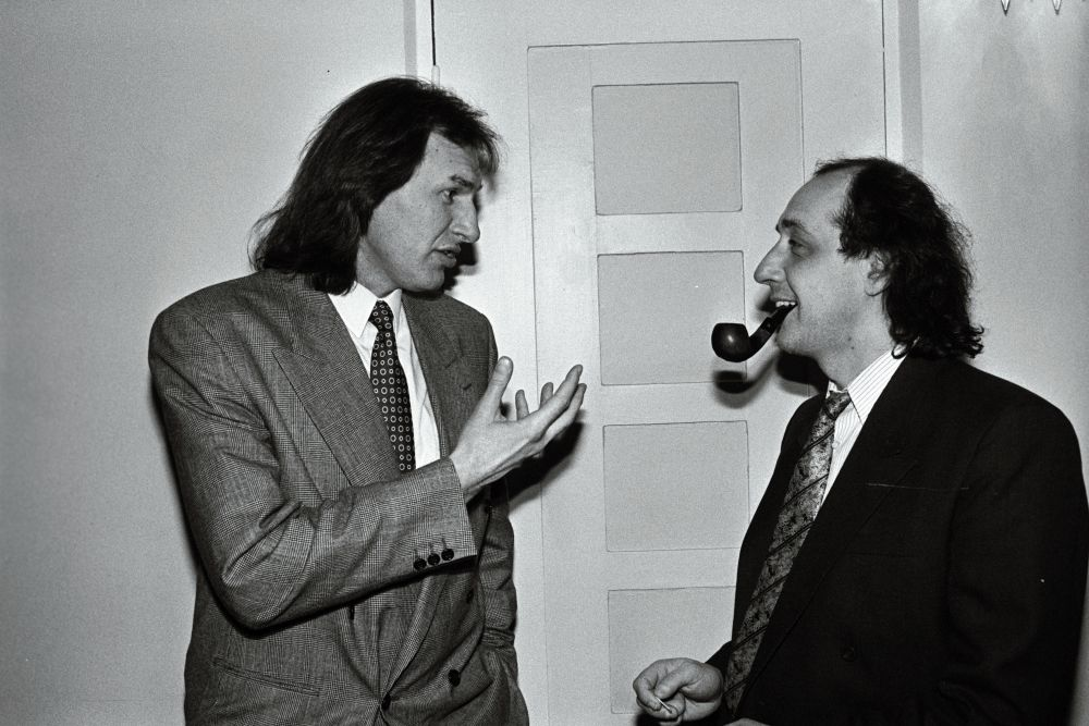 Dirigent Tõnu Kaljuste ja Roman Baskin, 1994. Lembit Michelson. RA, EFA.204.P.0-266742