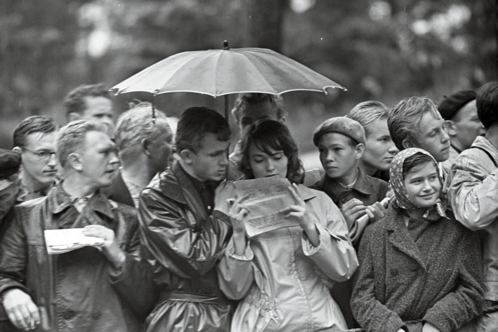 Rahvusvahelised mootorispordivõistlused ringrajasõidus Pirita-Kose-Kloostrimetsa ringrajal. Valdur-Peeter Vahi, 1962. RA. EFA.412.0-305590. 35mm negatiivfilm