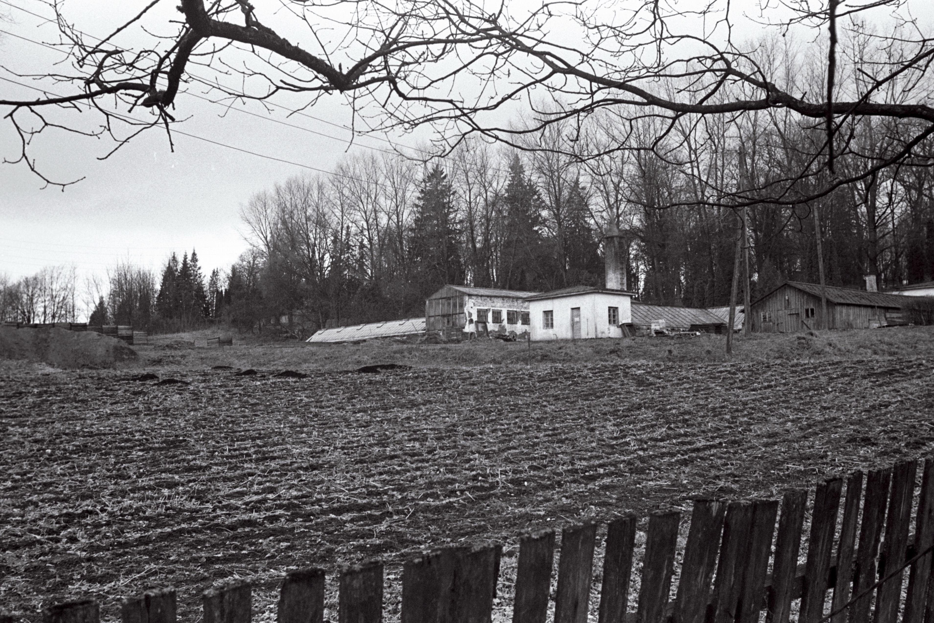 Viljandi Valuoja aiand, tulevane ehitusplats, aprill 1975. EFA.508.0-170322 . 35mm negatiivfilm