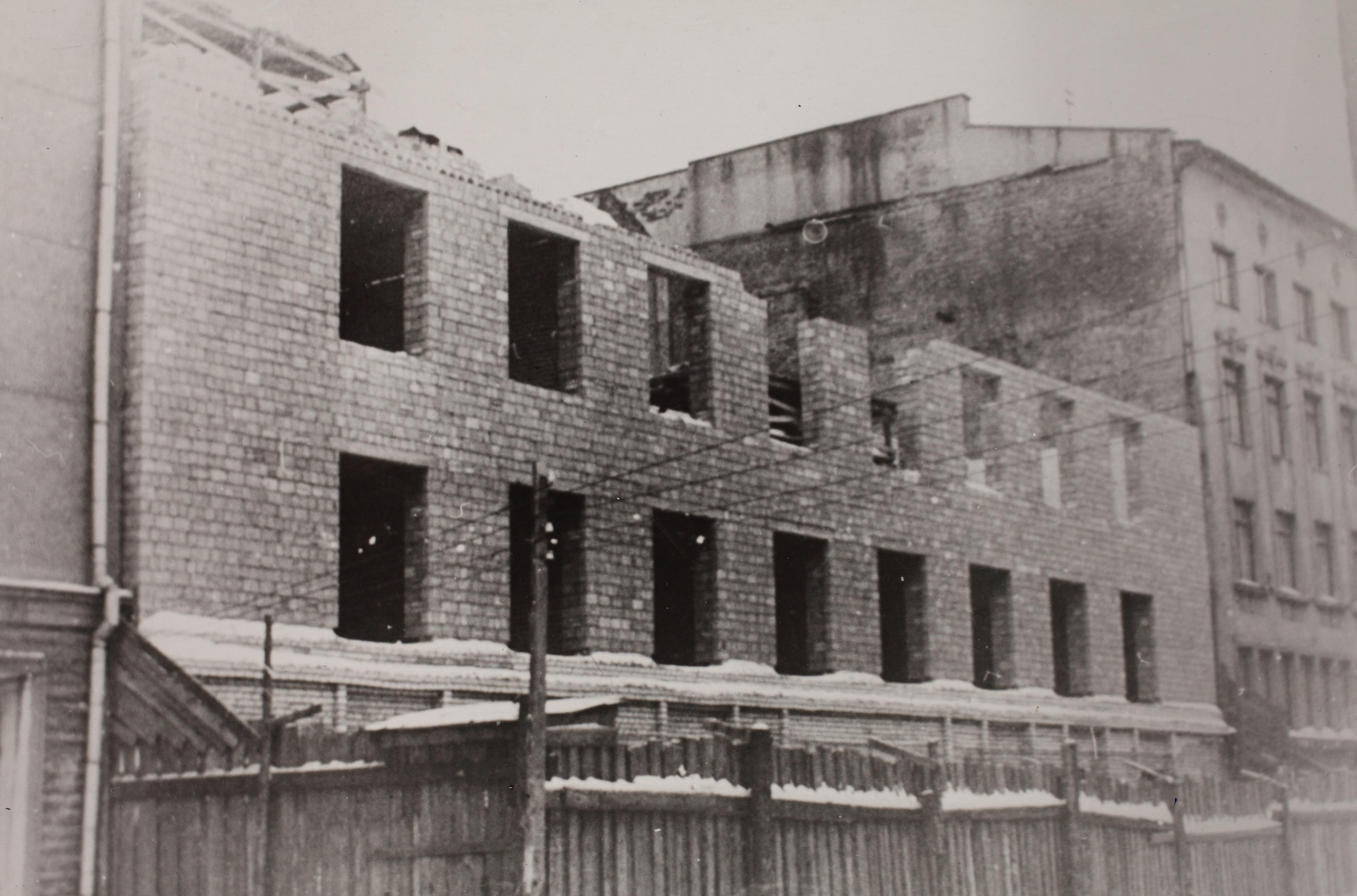 Maneeži 4 hoone ehitus. Ca 1960. ERA.R-18.9.25.18.3