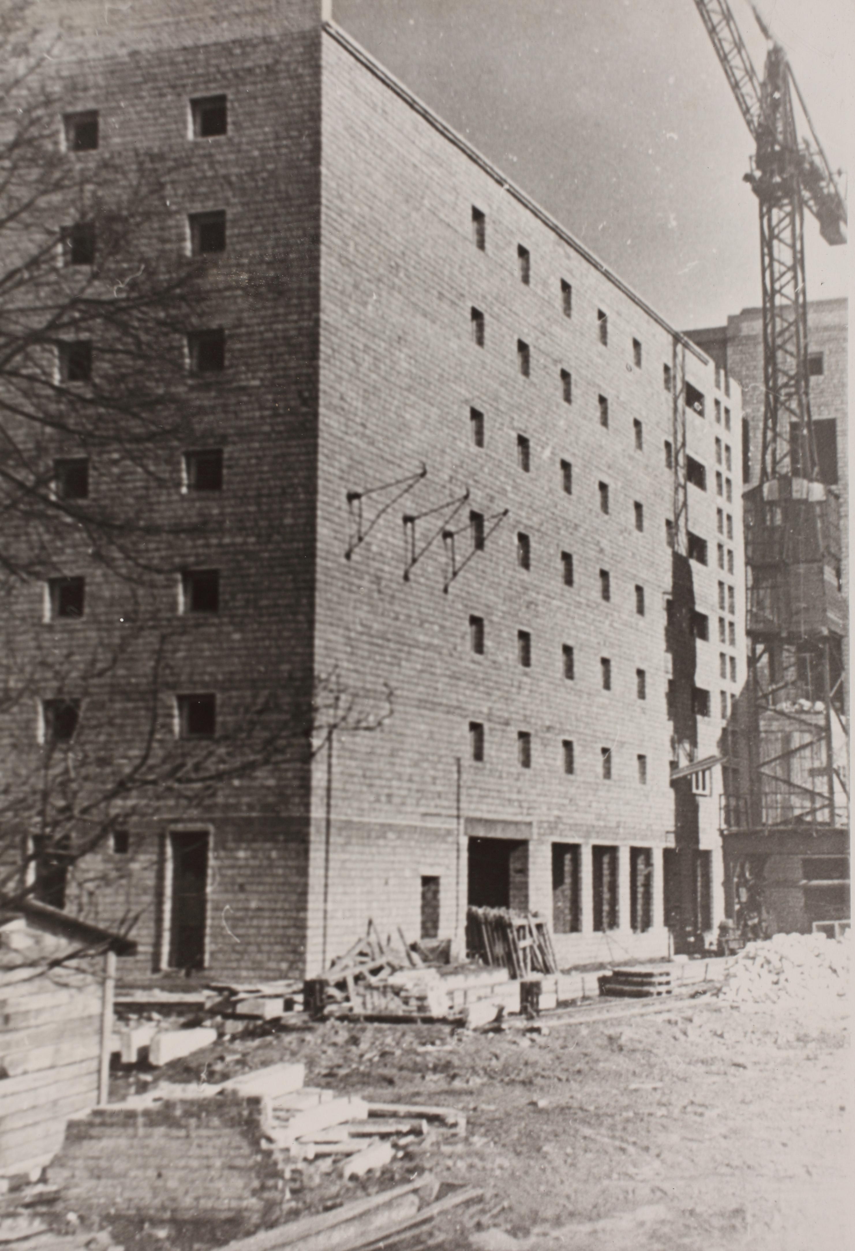 Maneeži 4 hoone ehitus. Ca 1963. ERA.R-18.9.67.19.1