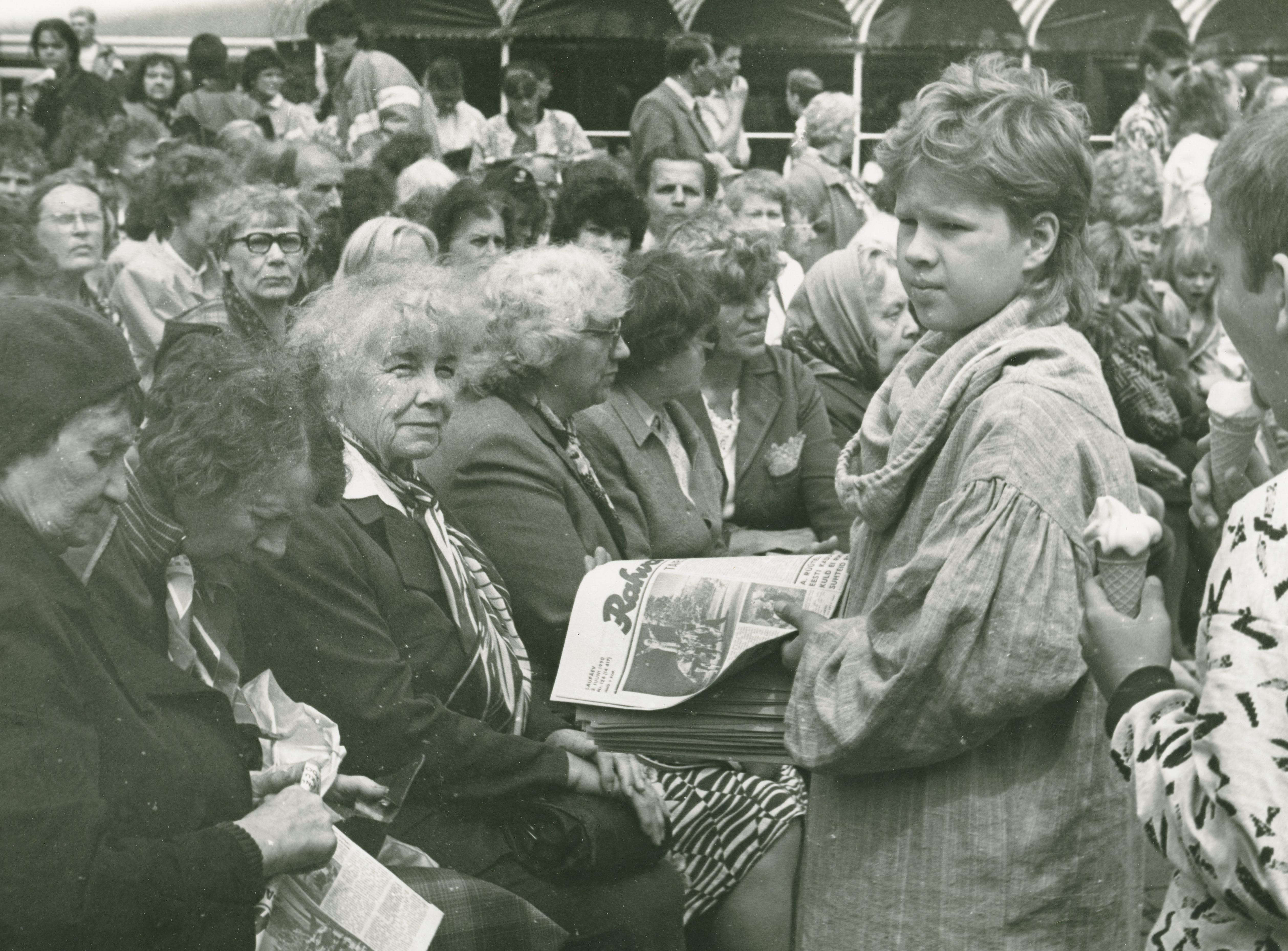 Foto Vanalinna päevadest aastatest 1984 - 1990. Rahvarohke üritus. Fotograaf: Georgi Tsvetkov. erf0002_002_0004294_00000_00004_fk