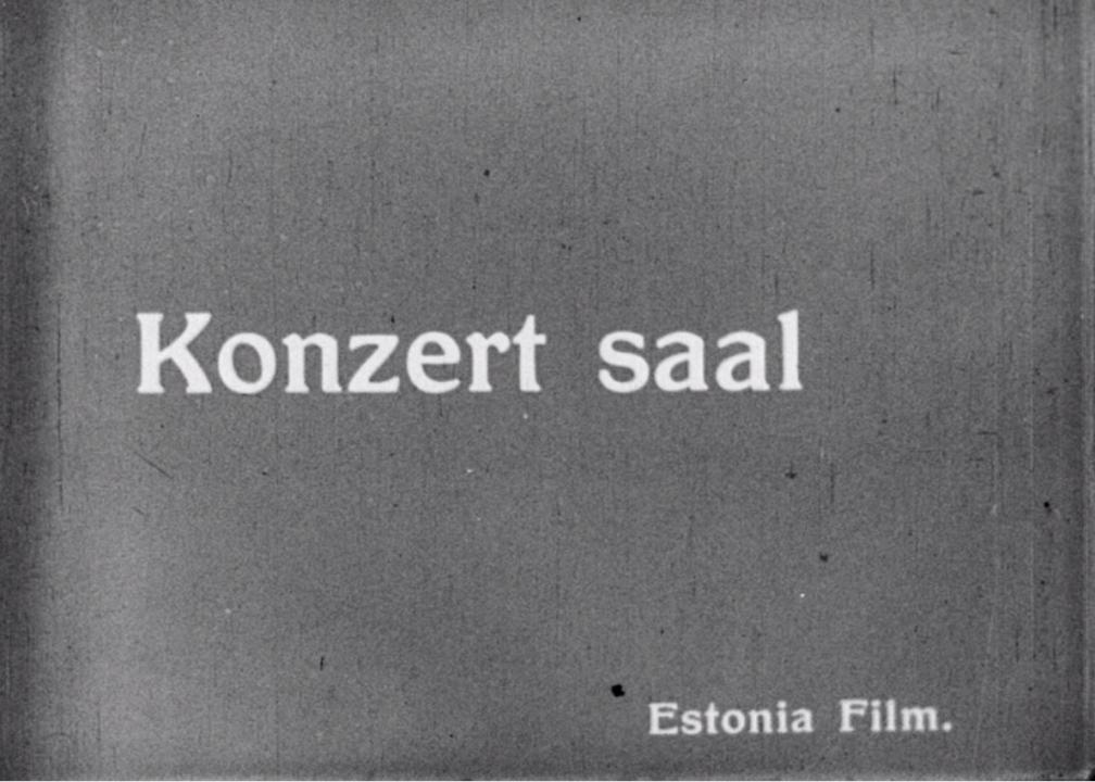 """Kaader kroonikapalast """"""""Estonia"""" rahvateater ja kontserdimaja Tallinnas"""". Kiri """"Konzert saal, Estonia Film""""."""