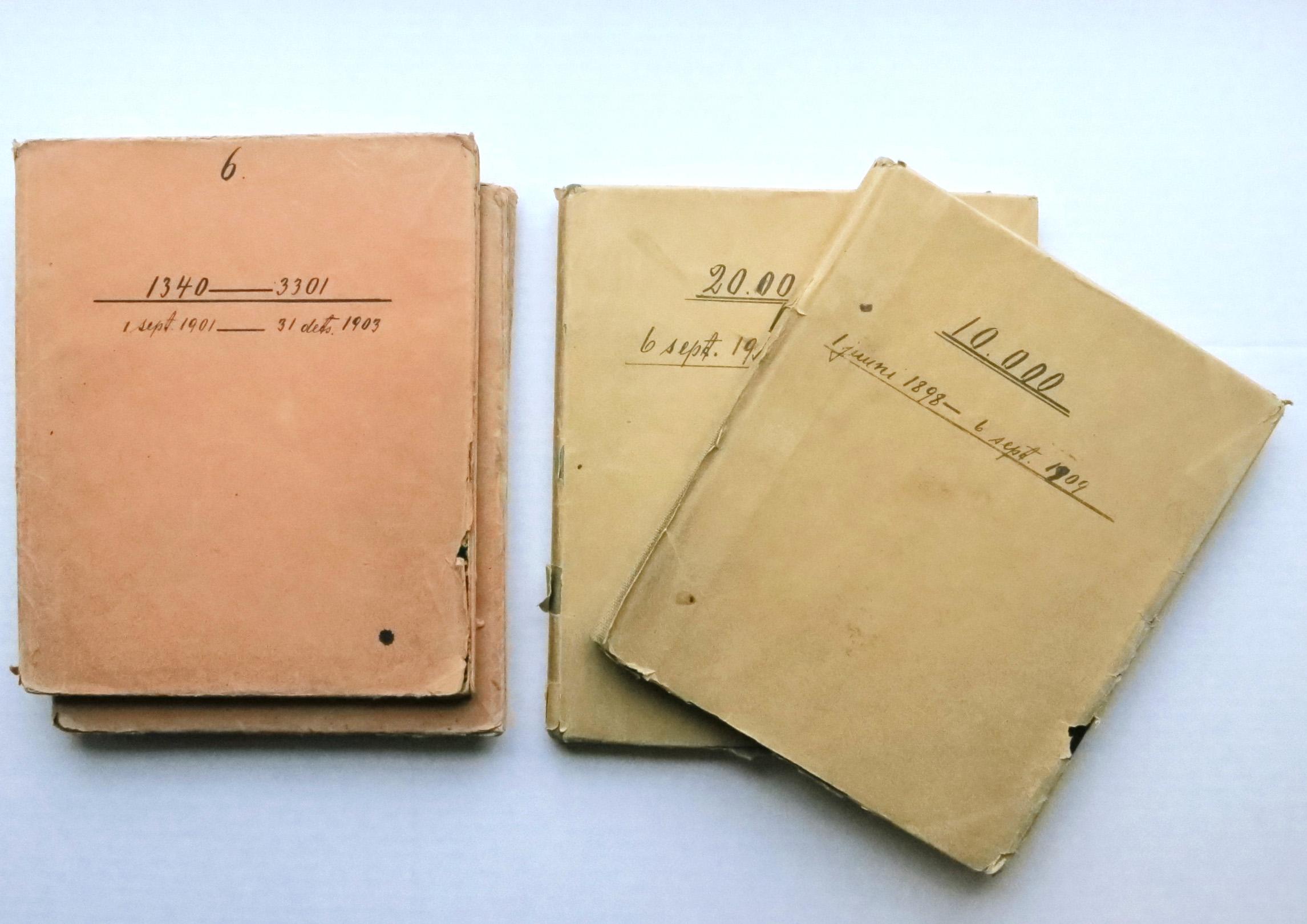 Rieti ateljee registriraamatud, EFA f 215