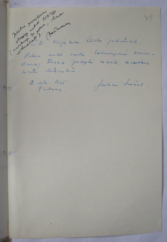 Juhan Smuuli taotlus loominguliseks komandeeringuks Franz Josephi maale. ERA-R.1765.1.363