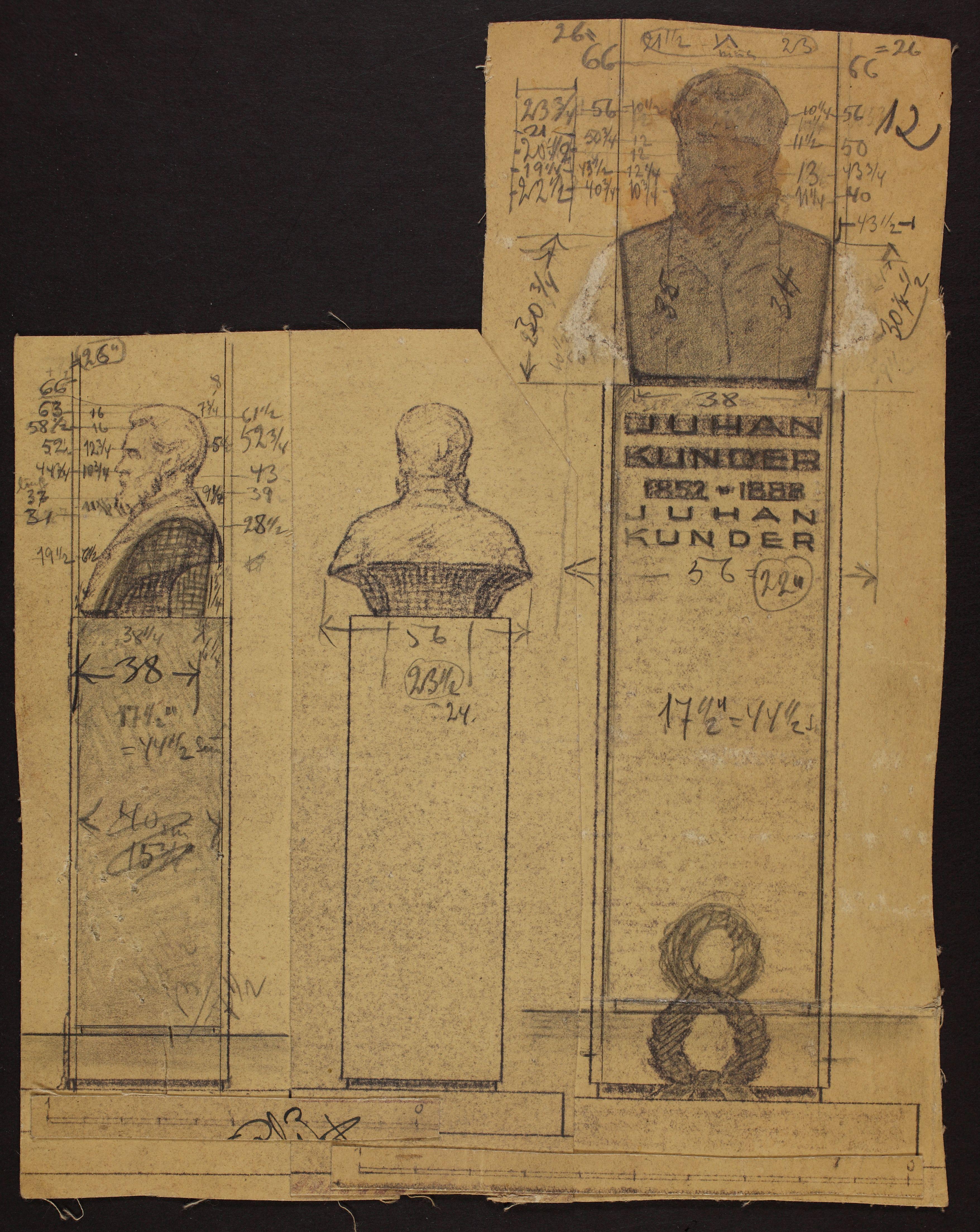 J. Kunderi monumendi projekt, 1937. ERA.R-1903.1.8.12