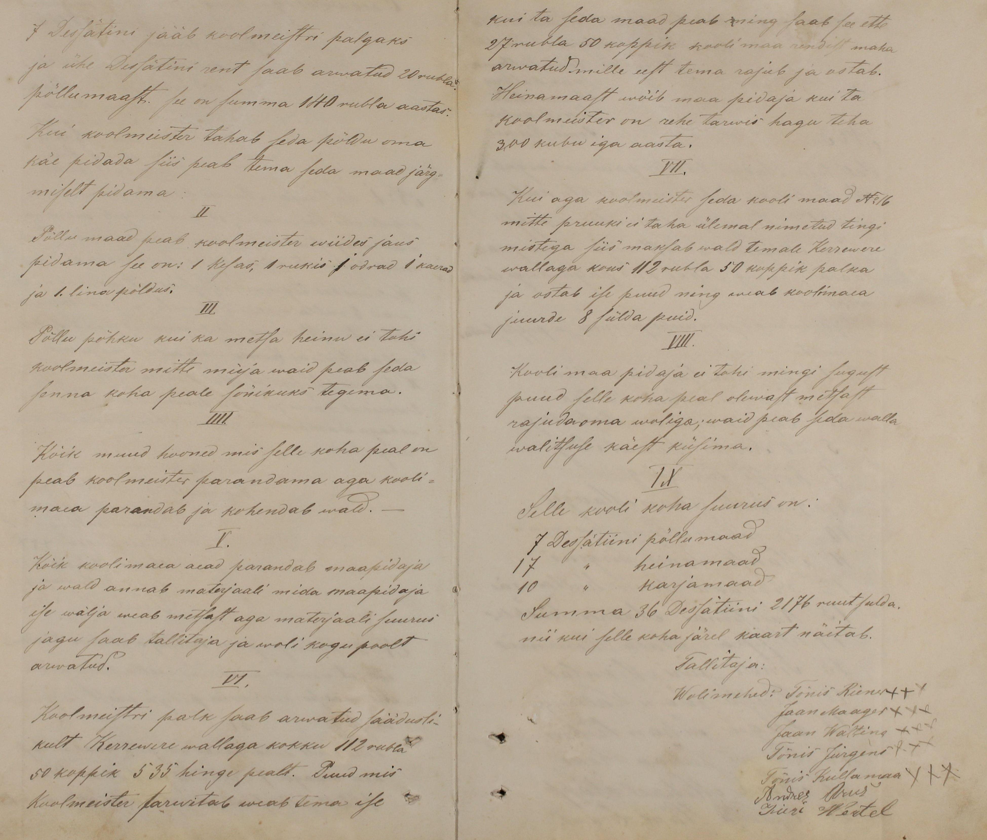 Oisu ja Kärevere vallad Järvamaal otsustasid oma kooliasjad ühendada ning Oisu vallavalitsuse protokolliraamatus on 1885/1886 aasta vahetuse aegu kirja pandud, mida vald ühisele koolmeistrile palgaks määras. k2