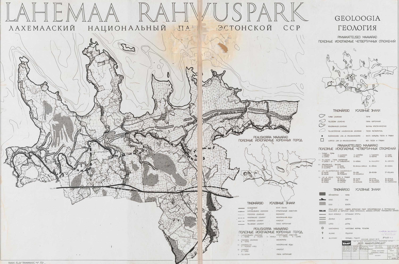 EAA.5311.58.257. Lahemaa Rahvuspargi geoloogiline kaart, 1978.