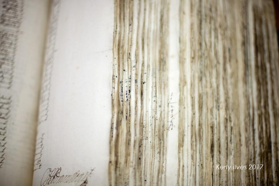Vana paksu raamatu lehtede servad. KerlyIlves17