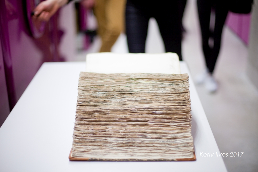 Avatud vana paks raamat ja selle lehtede servad. KerlyIlves20
