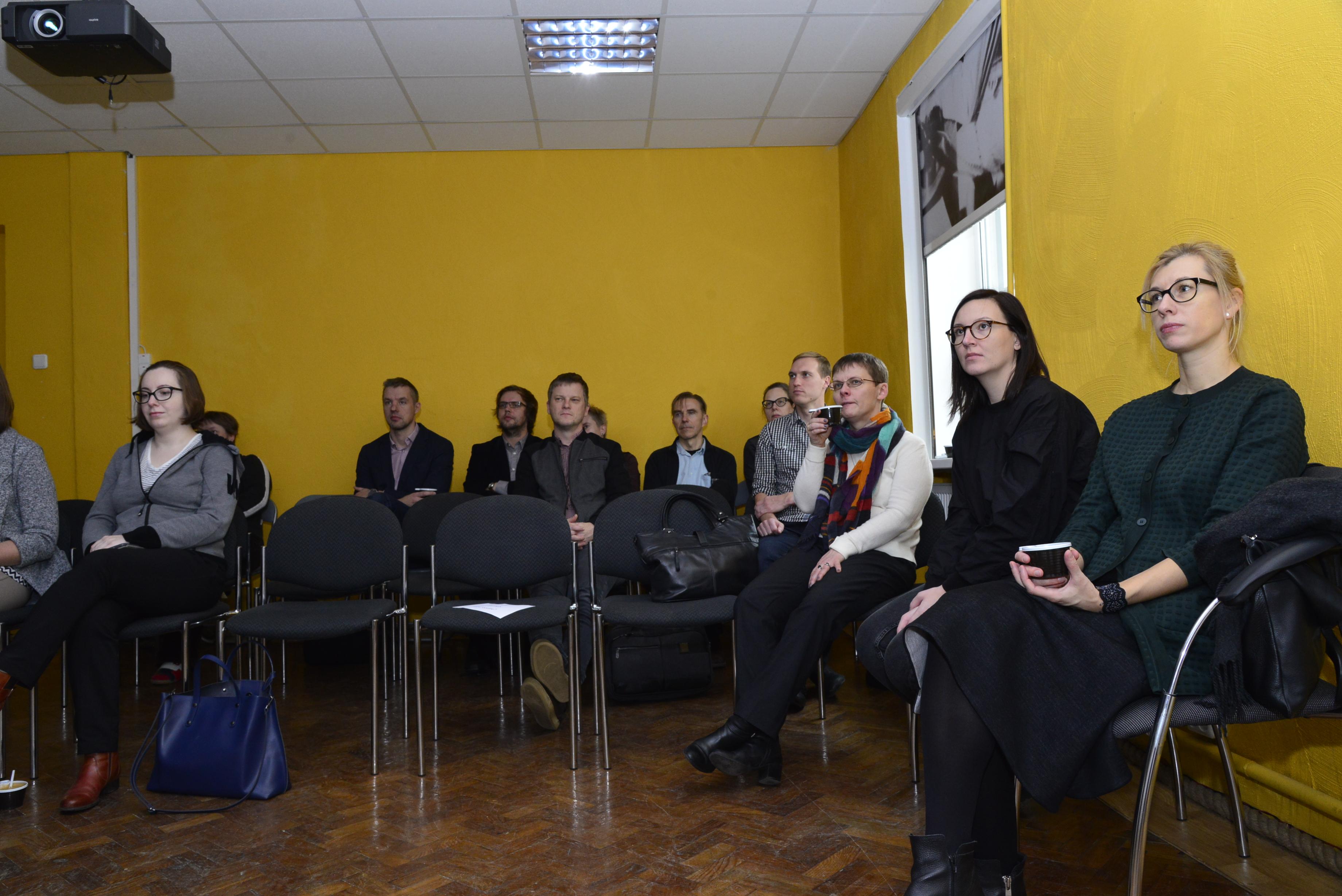 Filmipärandi töötuba, paremalt teine Lina Kaminskaitė-Jančorienė. Foto autor Mati Mänd (Rahvusarhiivi filmiarhiiv). koolitus-00003