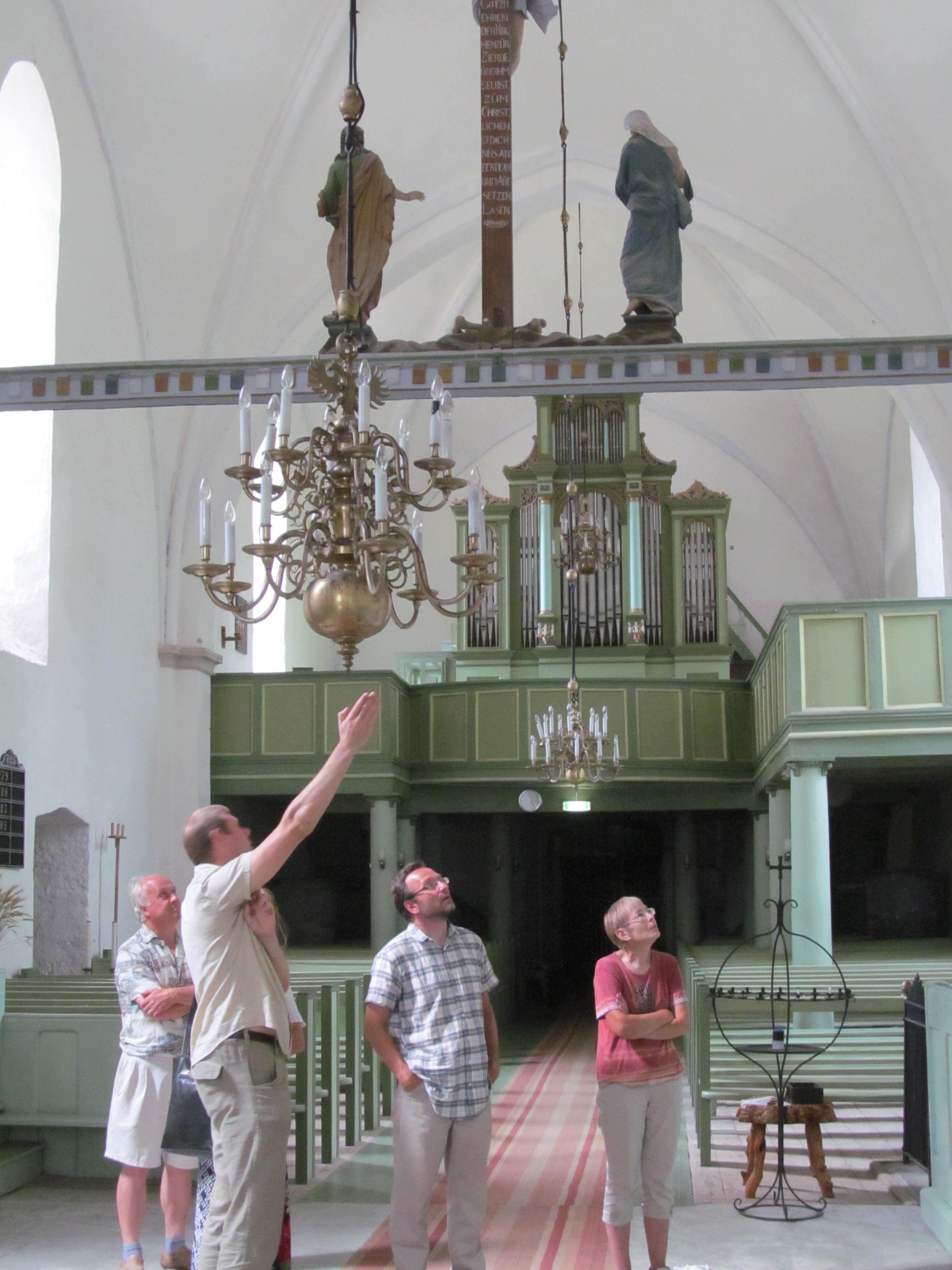 Kullamaa kirikus- Janis Tobreluts, Margus Jehe, Kalev Jaago ja Lea Teedema