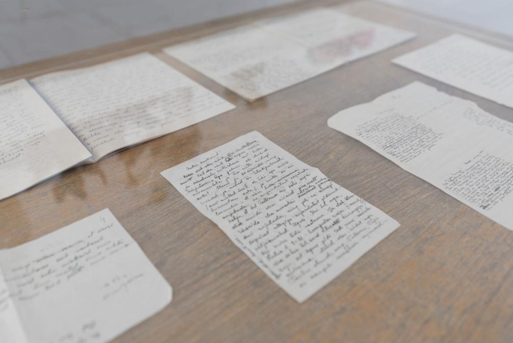 """Näitus """"Benita Labi: Splendid loneliness"""", käsikirjad."""
