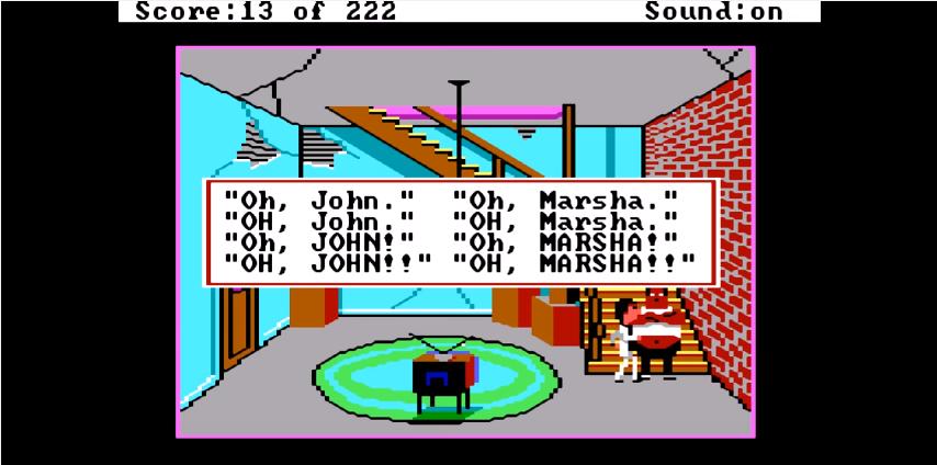 Kuvatõmmis arvutimängust Leisure Suit Larry