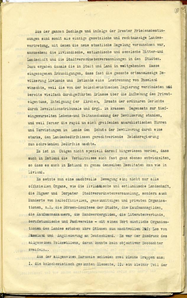 Balti õigus- ja halduskorralduse kirjeldus. Läti Rahvusarhiiv. LVVA.4038.2.490- l 40.