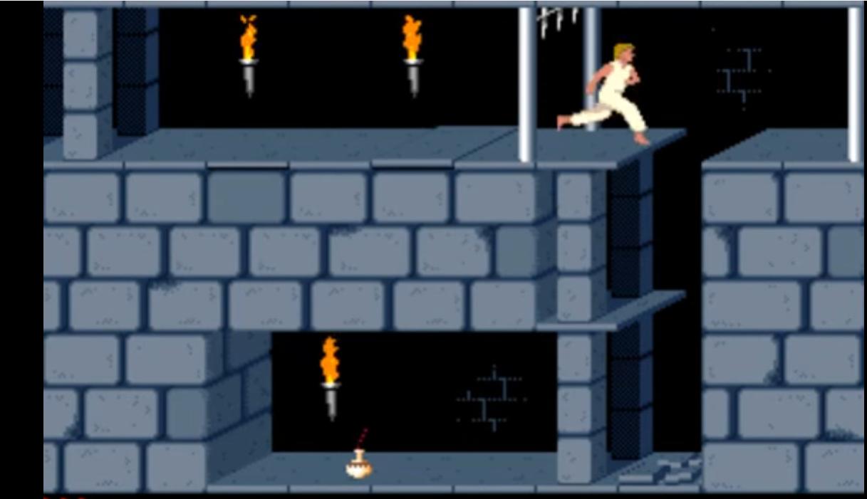 Kuvatõmmis arvutimängust Prince of Persia