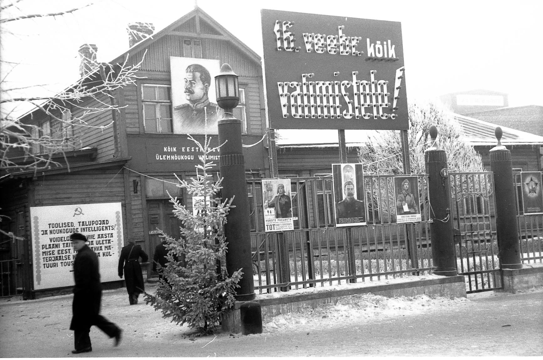 Tallinna 9. valimisringkonna hoone, 1947. E. Järve.