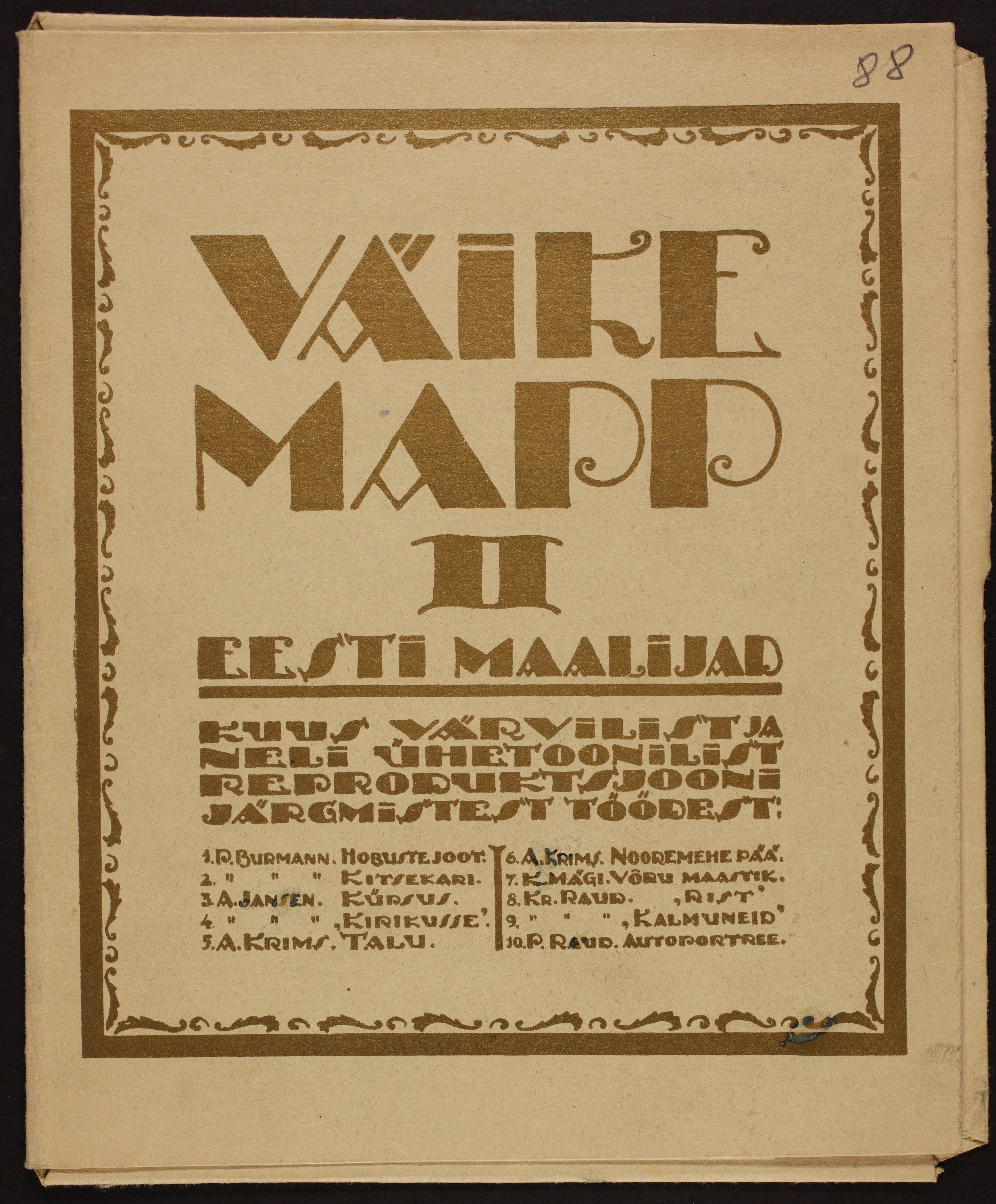 Väike mapp II, 1923. ERA.R-1903.1.23.88